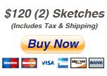 $120 -2 sketches incl tax ship